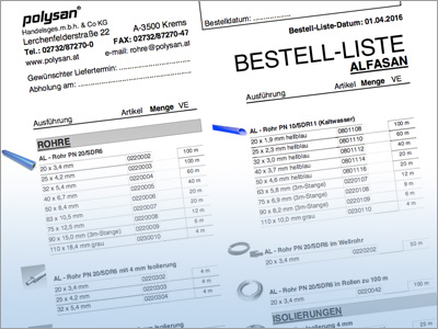 Polysan Bestelllisten Download